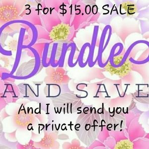 Bundle 3 items for $15